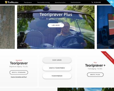 trafiktesten.dk website
