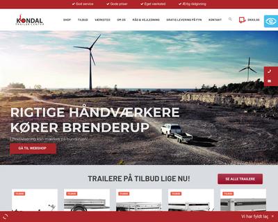 trailercentret.dk website