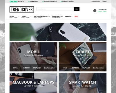 trendcover.dk website