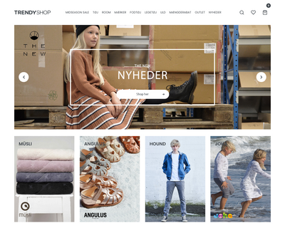 trendyshop.dk website
