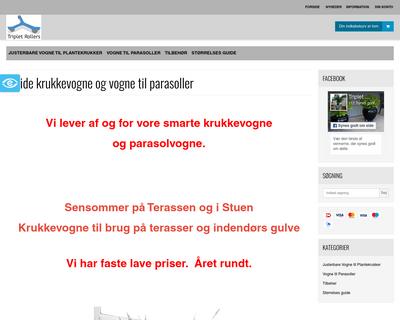 tripletrollers.dk website