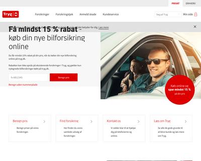 tryg.dk website