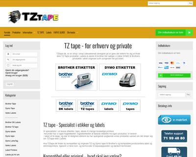 tztape.dk website