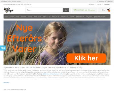 www.ugleunger.dk website