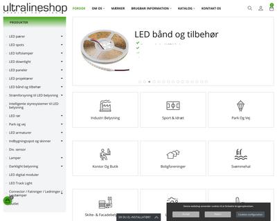 ultralineshop.dk website