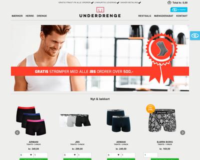 underdrenge.dk website