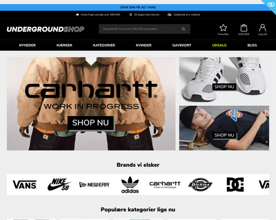 undergroundshop.dk website
