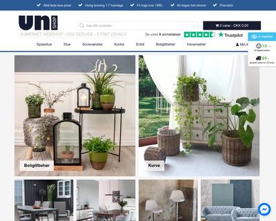 uni-shop.dk website
