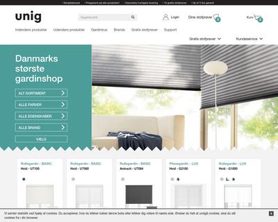 www.uniggardin.dk website