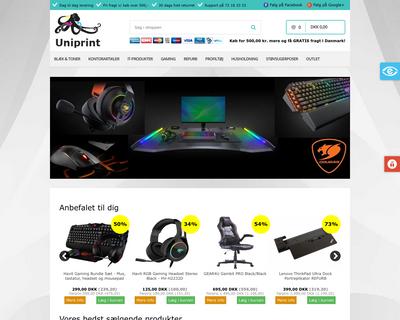 uniprint.dk website