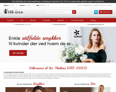 ure-guld.dk website