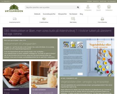 urtegaarden.dk website