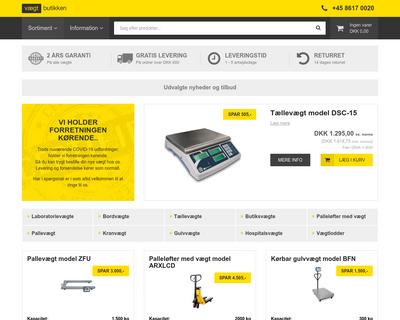 vaegtbutikken.dk website