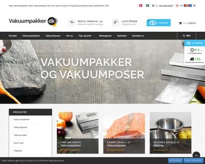 www.vakuumpakker.dk website