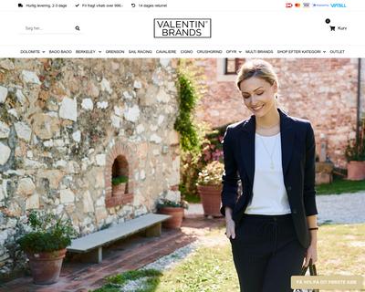 valentinbrands.com website
