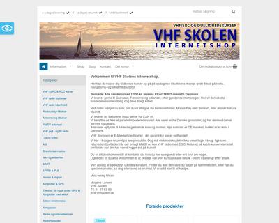 vhfshoppen.dk website