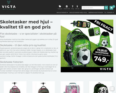 victa.dk website