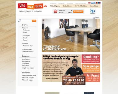 vildmedgulv.dk website