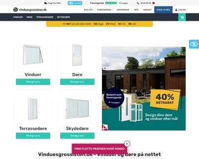 vinduesgrossisten.dk website