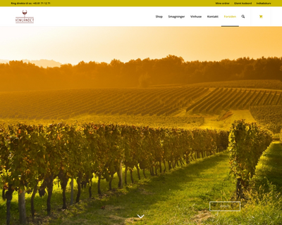 vinlandet.dk website