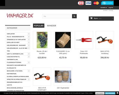 vinmager.dk website