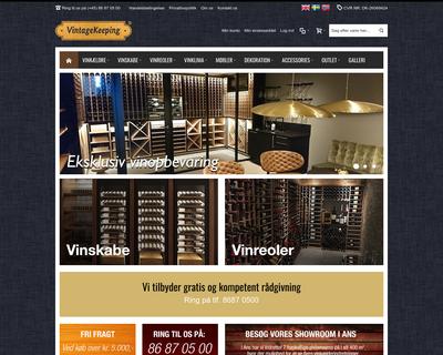 vintagekeeping.dk website