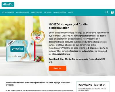 vitaepro.dk website