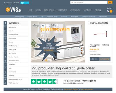 vvs.dk website