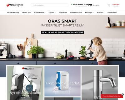 vvscomfort.dk website