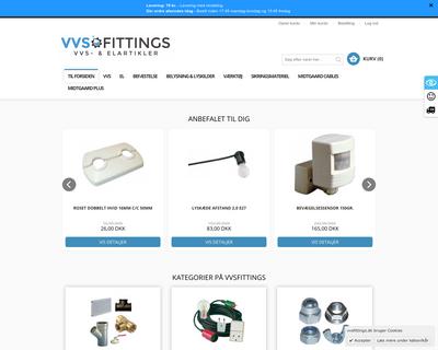 vvsfittings.dk website