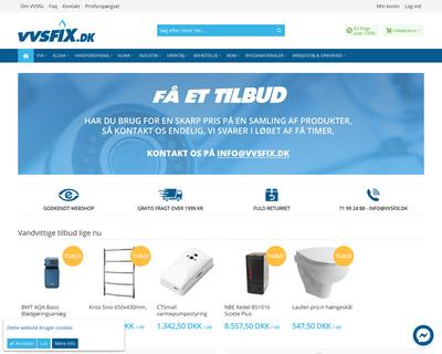 vvsfix.dk website