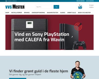vvsmester.dk website