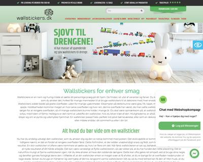 wallstickers.dk website