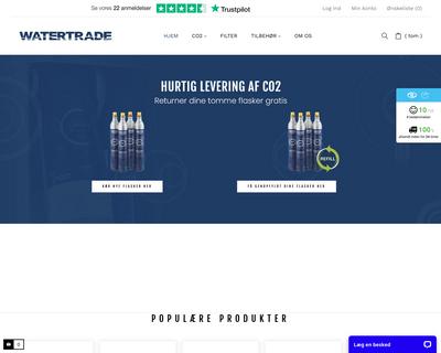 www.watertrade.dk website