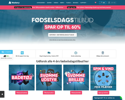 watery.dk website
