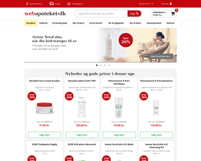 webapoteket.dk website