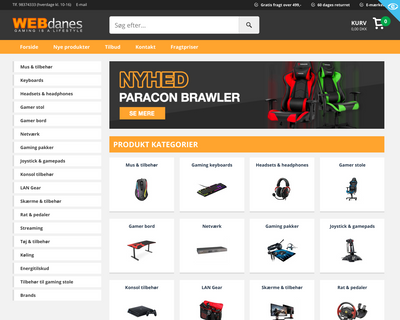 webdanes.dk website