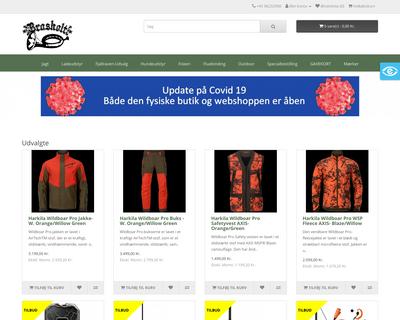 webshop.brasholt.com website