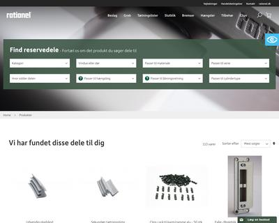 webshop.rationel.dk website