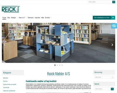 webshop.reick.dk website