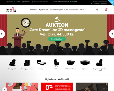 www.wecare4u.dk website