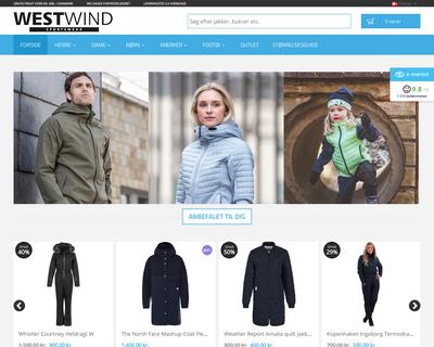west-wind.dk website