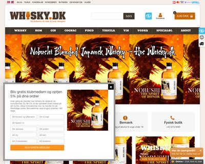 whisky.dk website
