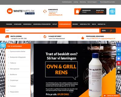 whiteparts.dk website