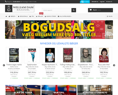 www.williamdam.dk website