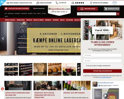 wineandbarrels.com website