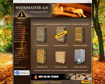 woodmaster.dk website