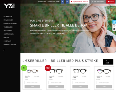 ymeyewear.dk website