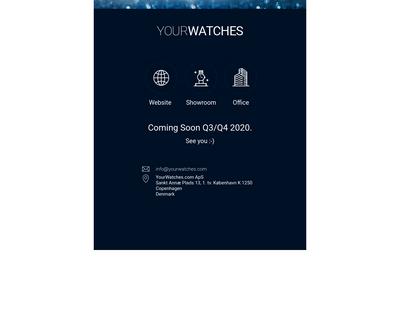 yourwatches.dk website