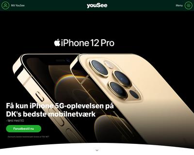 www.yousee.dk website